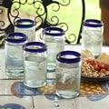 'Cobalt' Drinking Glass Set (Mexico)