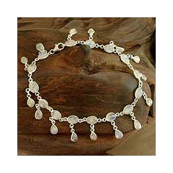 'Moon Dancer' Moonstone Anklet (India)