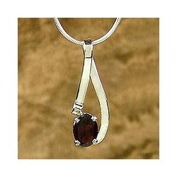 'Love in a Ribbon' Garnet Necklace (India)