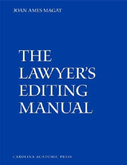 The Lawyer's Editing Manual (Paperback)
