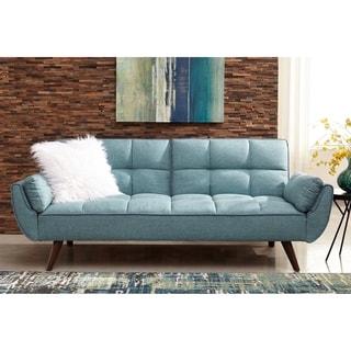 Carson Carrington Laggarhem Turquoise Blue Tufted Back Upholstered Sofa Bed