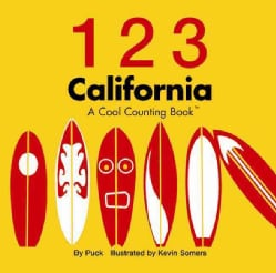 1 2 3 California: A Cool Counting Book (Board book)