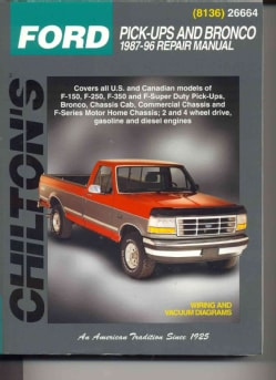 Chilton's Ford: Pick-Ups and Bronco 1987-96 Repair Manual (Paperback)