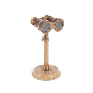 Hip Vintage Antiqued Brass Binoculars with Stand