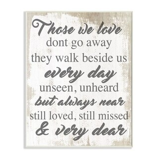 Stupell Industries Those We Love Inspirational Family Home Word Design Wood Wall Art