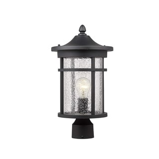 "16"" Height Outdoor Patio Post Lantern for Pathway, Driveway, Front/Back Door"