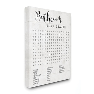 Stupell Industries Bathroom Word Search Fun Family Word Design Canvas Wall Art