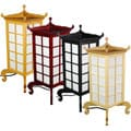 Chinese Artisan Oriental Hand-crafted Pagoda-shaped Kobe Table Lamp