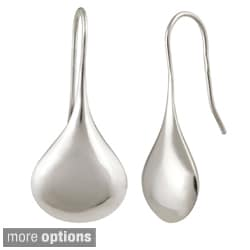 Mondevio Anti-tarnish Sterling Silver Puffed Teardrop Earrings (30 mm x 13 mm)