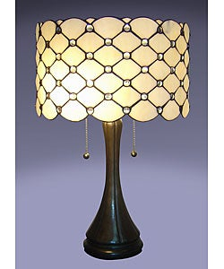 Tiffany-style 2-light Jeweled Table Lamp