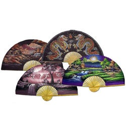 40- or 60-inch Wide Oriental Silk Fan (China)