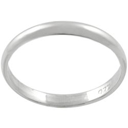 Tressa Sterling Silver Plain Ring