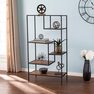 Carbon Loft Mathers Industrial Reclaimed Wood Etagere Bookcase