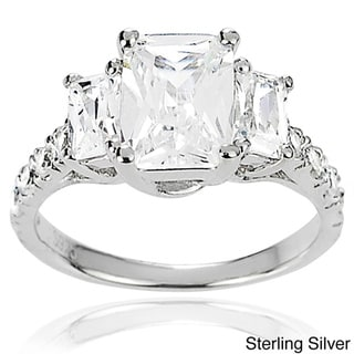 Tressa Collection Sterling three stone CZ Bridal & Engagement Ring