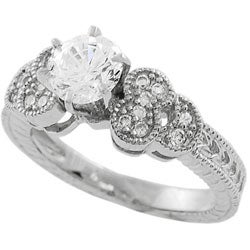 Tressa Sterling Silver CZ Fashion Design Ring