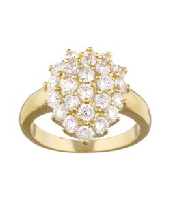 Simon Frank 14k Gold Overlay Diamoness Cluster Cocktail Engagement Ring