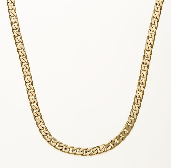 Simon Frank 14k Yellow Gold Overlay 30-inch Cuban Necklace 7mm