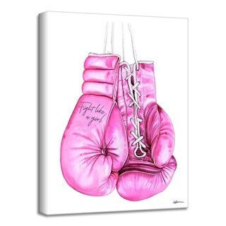 'Fight Like a Girl' Canvas Wall Art by Laurie Duncan