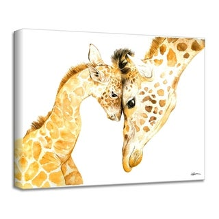 'Mama & Baby Giraffe' Canvas Animal Wall Art by Laurie Duncan