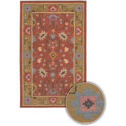 Handmade Traditional Mandara Rug (5' x 8')