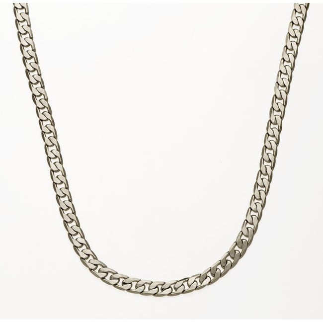 Simon Frank Silver Overlay 7mm Cuban Necklace (24-inch)