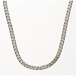 Simon Frank Silver Overlay 7mm Cuban Necklace (24-inch)