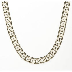 Simon Frank 14k White Gold Overlay 12mm Cuban Necklace (20-inch)
