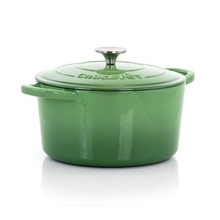 Crock-Pot Artisan 2Pc 5Qt Enamled Cast Iron Dutch Oven Pistachio Green