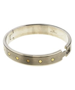 Men's Titanium and 14k Yellow Gold Bangle Bracelet