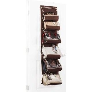 Over The Door Purse Storage Organizer & Towel Rack (1pk) Hanging Storage Organizer for Shampoo Shower Organizer Closet Organizer