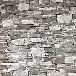 Wallpaper textured grey modern faux realistic brick stone 3D