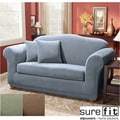 Sure Fit Polyester Spandex Stretch Stripe 2-Piece Sofa Slipcover
