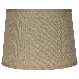 "French Drum Burlap Lampshade, 12"" to 16"" Bottom Size"