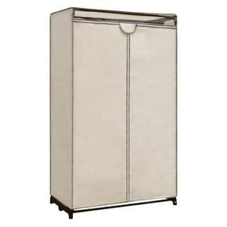 "Maypex Canvas Portable Wardrobe Storage Closet - Nature - 36"" Wide"