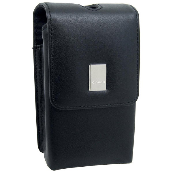 Black Canon PSC-55 Deluxe Leather Top-loading Camera Carrying Case