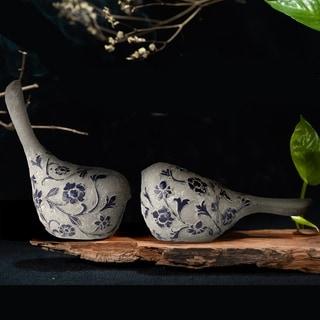 "Resin Bloomsbury Sitting Bird 5.5"""