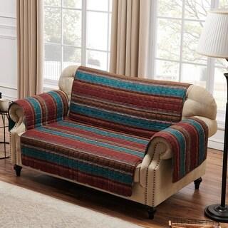 Porch & Den Parnell Stripe Pattern Reversible Loveseat Protector
