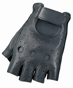 Fingerless Motorcycle Leather Gloves