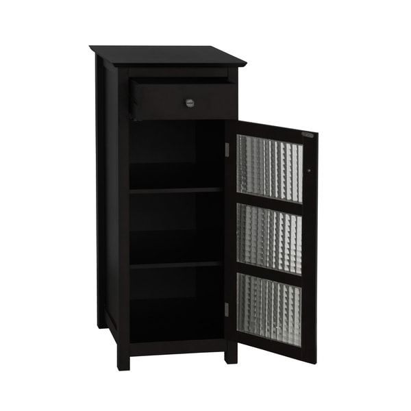 Espresso 1 Door Drawer 2 Shelf Kitchen Bathroom Linen Home