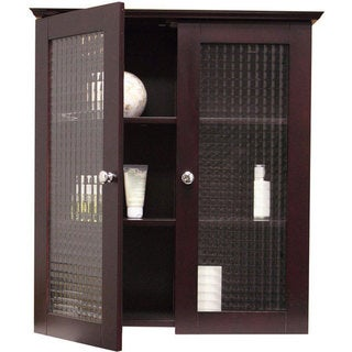 Windham Wall Cabinet with Two Glass Doors by Elegant Home Fashions