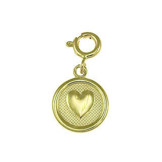 14k Yellow Gold Seven Wishes 'Love' Charm