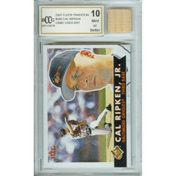 Cal Ripken Mint Card and Rookie Game-used Bat