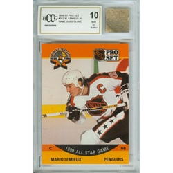 Mario Lemieux Mint 10 Card and Game Used Glove