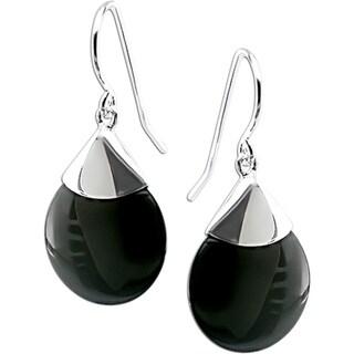 M by Miadora Sterling Silver Black Onyx Drop Earrings