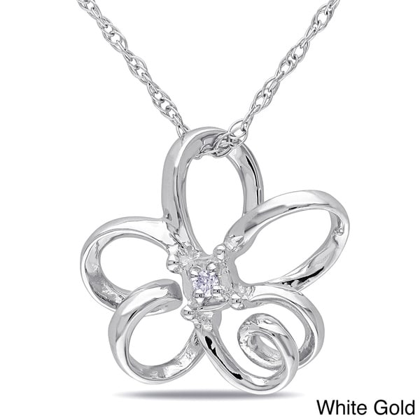 Haylee Jewels 10k Gold Diamond Accent Flower Necklace