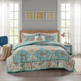 Intelligent Design Jasmine Seersucker Boho Printed Comforter Set