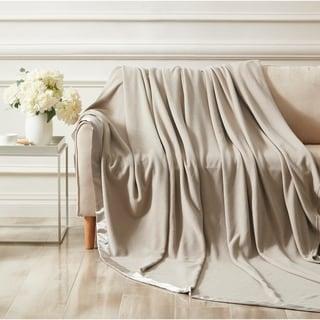 Microfleece Blanket with Satin Binding