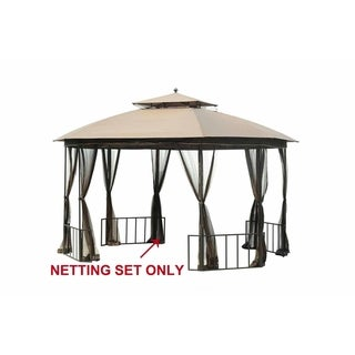 Sunjoy Replacement Mosquito Netting for Catalina Gazebo (11'x13') L-GZ660PST-D