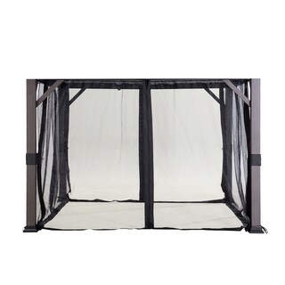 Sunjoy Replacement Mosquito Netting for Hardtop Gazebo (10'X10') L-GZ1150PST-A