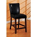 Empire Black Bicast Leather Counter Stools (Set of 2)